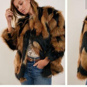 Anthropologie NWT Hutch Kellie Faux Fur Jacket L